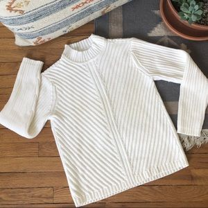2/$30 Vintage Ribbed Knit Mockneck Sweater